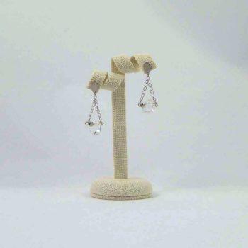boucles d'oreilles en cristal de roche