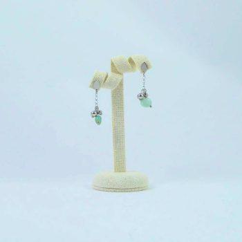 Boucles d'oreilles en amazonite