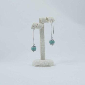 Boucles d'oreilles en howlite turquoise