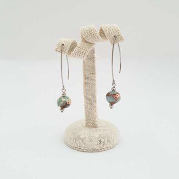 Boucles d'oreilles en jaspe