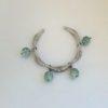 Bracelet en agate verte craquelée