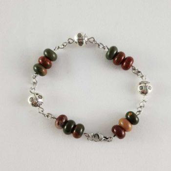 Bracelet en agate picasso rondelles