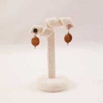 Boucles d'oreiles en agate